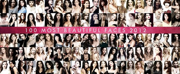 2012年最も美しい顔トップ100【TC Candler's List of the 100 Most Beautiful Faces 2012】